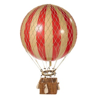 Hot Air Balloon- Red- Large