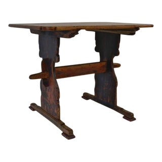 Painted Pine Trestle Table