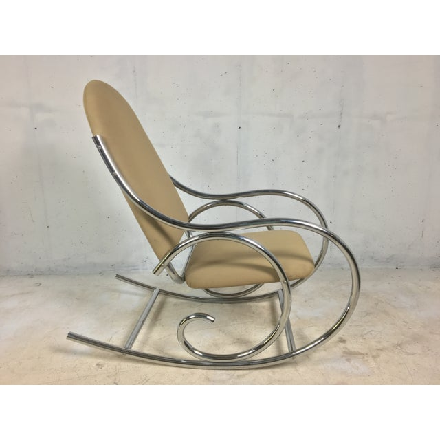 Image of Modern Chrome Rocker In The Style of Michael Thonet