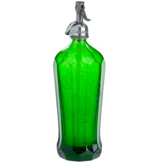 Barkley's Green Glass Seltzer Bottle