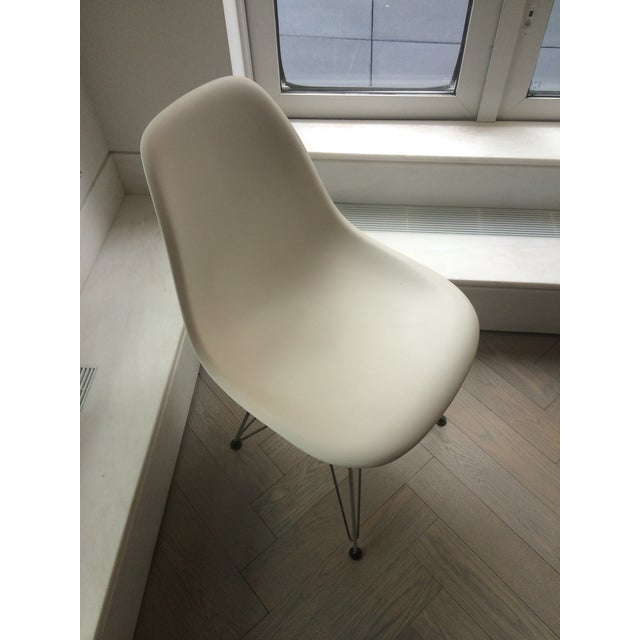 Eames Chrome Eiffel Base Side Chairs - A Pair - Image 7 of 8