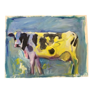 """Benji, the Cow"" Painting"