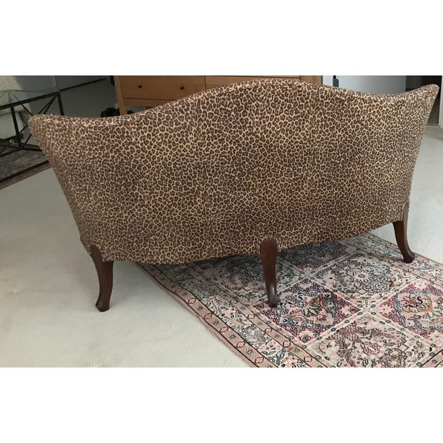 Antique Leopard Print Loveseat Chairish