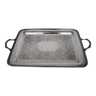 Large Rogers Silverplate Serving Tray