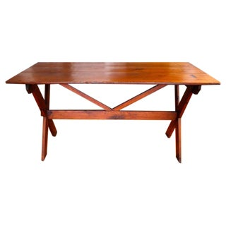 Early 19th Century Pennsylvania Sawbuck Table