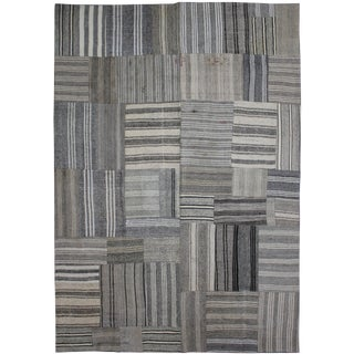 """Hand Knotted Antique Patchwork Kilim - 12'2"""" x 8'10"""""""
