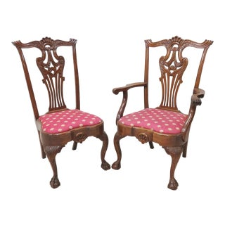 Centennial Chippendale Style Chairs - A Pair