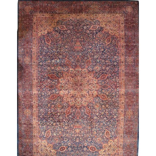 Pasargad N Y Antique Indo Tabriz Design Manchester Wool Hand-Knotted Rug - 12′ × 17′5″