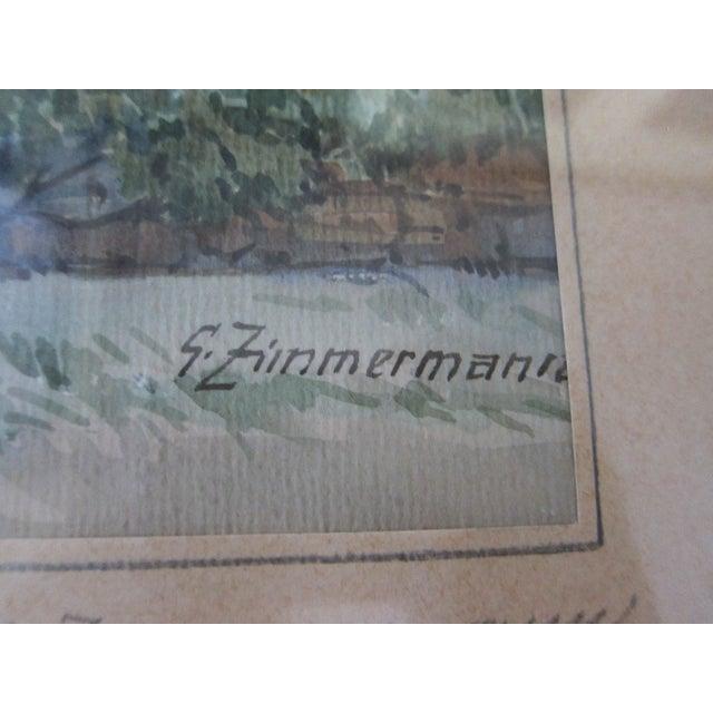 Zimmermann Vintage German Landscape Print - Image 8 of 11