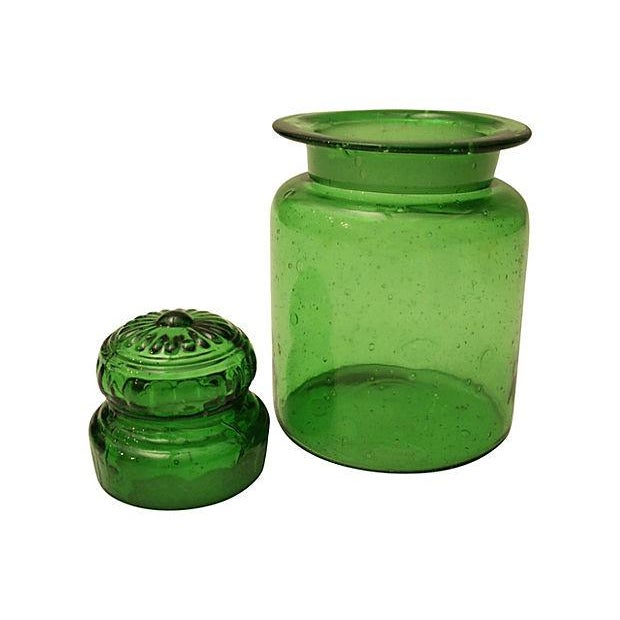 Bright Green Apothecary Lidded Jar - Image 2 of 4