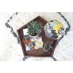 Image of Handmade Walnut Wooden Geometric Pentagon Tray