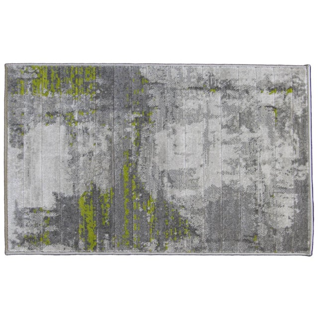 Green Abstract Rug - 1′8″ × 2′6″ - Image 3 of 4