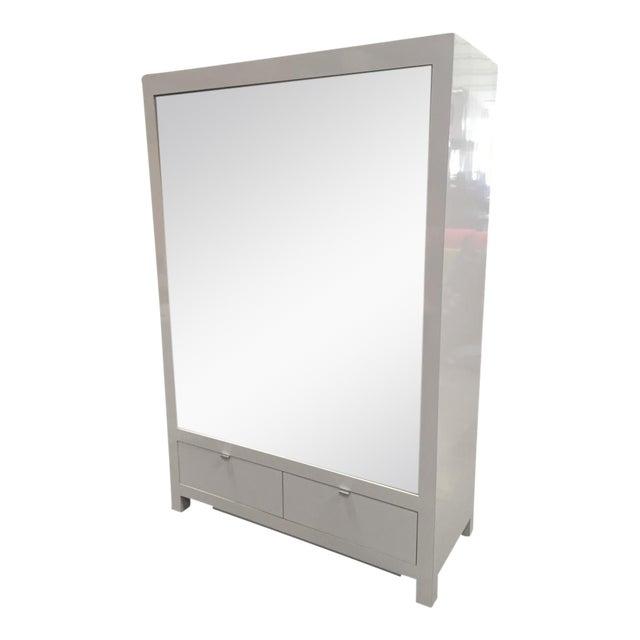 Ebbett Design & Associates White Mirrored Armoire - Image 2 of 9