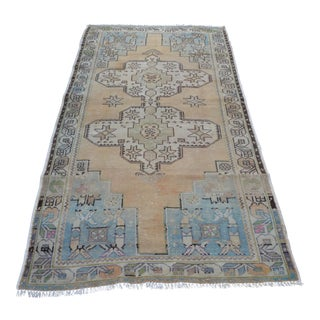 Antique Turkish Handwoven Rug - 3′8″ × 7′5″