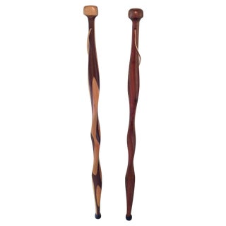 Amish Walking Sticks - Pair