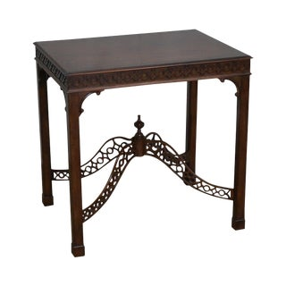 Ethan Allen Mahogany Chippendale Style Side Table