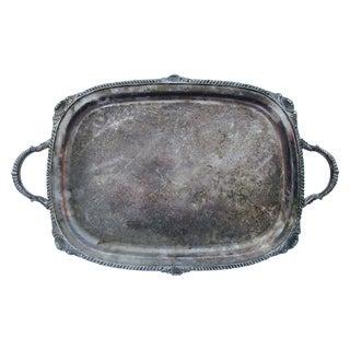 Vintage Ornate Silver Vanity or Serving Tray