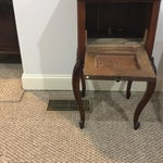 Image of Antique Marble Top Walnut Nightstand