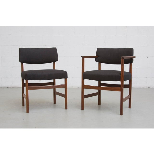 Masculine Danish Mid-Century Dining Chairs - 6 - Image 3 of 11