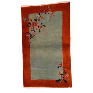 1920s Antique Art Deco Chinese Rug - 3′1″ × 4′10″