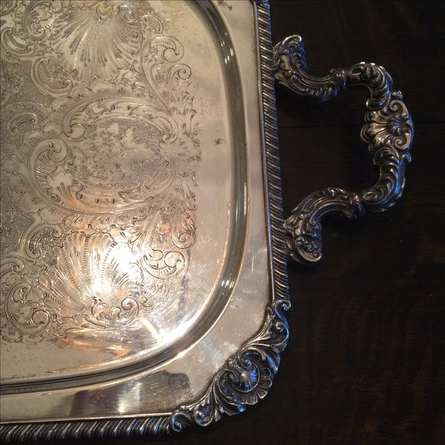 Silverplate Serving Tray - Image 4 of 11