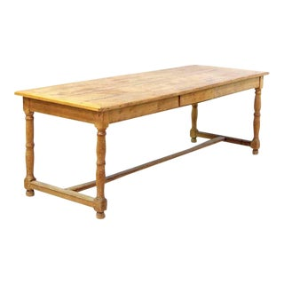 19th Century Pine French Farm Table