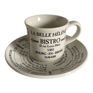 La Belle Helene Bistro Demitasse Cup and Saucer