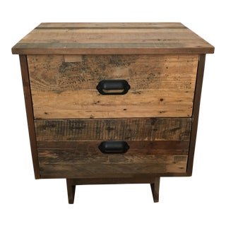 Emmerson Reclaimed Wood 2-Drawer Nightstand