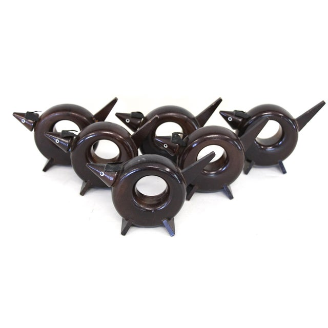 Rosewood Dog Napkin Rings - Set of 6 - Image 2 of 5