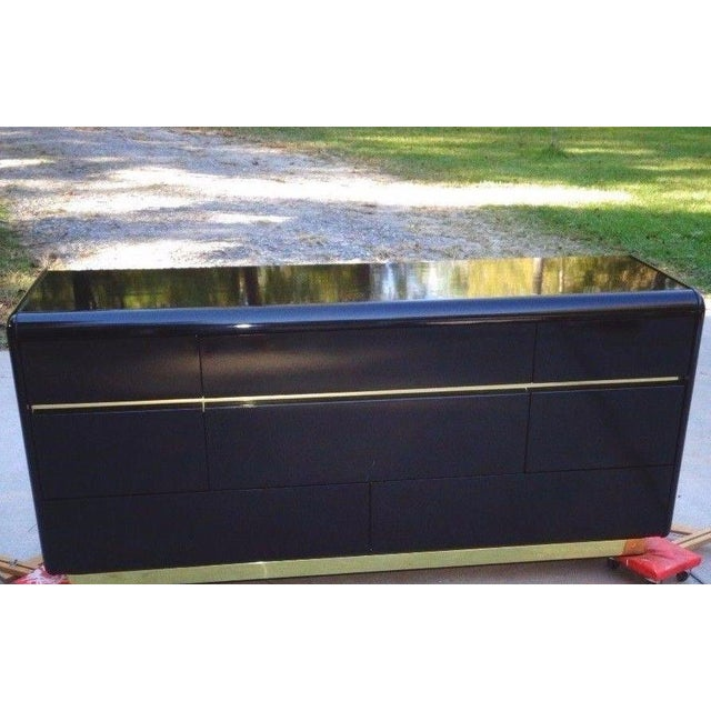 Lane Black Lacquer Hollywood 1987 Chest - Image 3 of 11