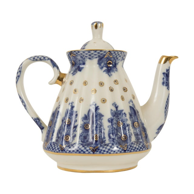 Lomonosov Cobalt Blue & Gold Porcelain Teapot - Image 1 of 11
