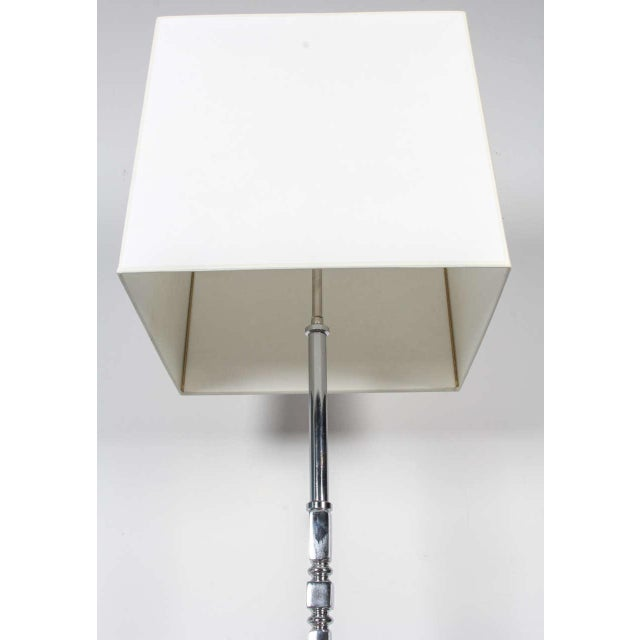Vintage 1950s French Chrome Plated Floor Lamp - Image 2 of 5