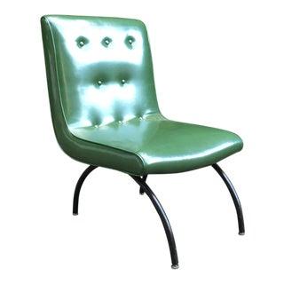 Baughman Style Mid-Century Vinyl Scoop Chair