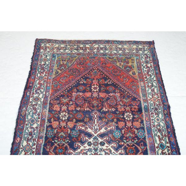 Hand Knotted Persian Mahal Runner - 3′10″ × 10′4″ - Image 4 of 11