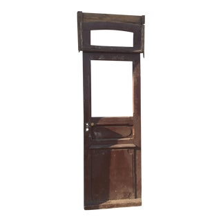 Antique Door with Transom Window