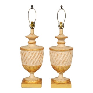 Classic Urn Shape Table Lamps - A Pair