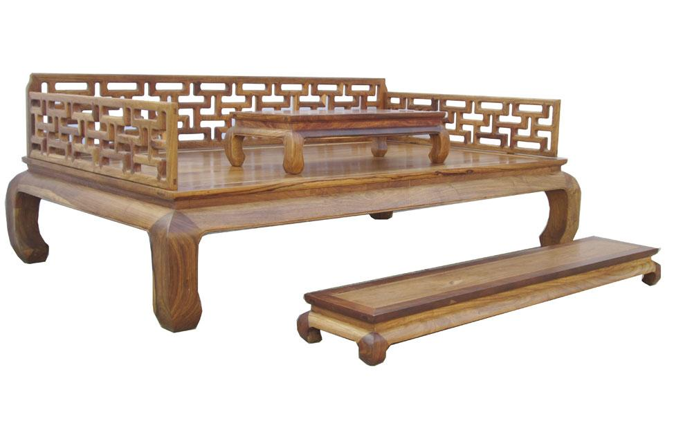 image of oriental rosewood daybed couch bench set 3 - Daybed Couch