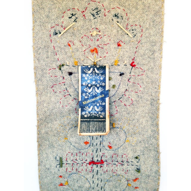 Vintage Mid Century Woven Wall Hanging - Poland - Image 6 of 6
