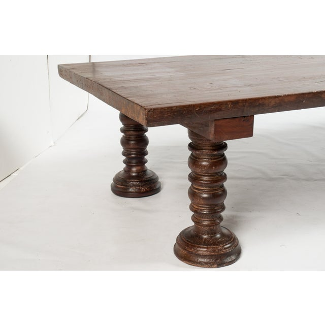 Vintage South Indian Solid Wood Table - Image 3 of 4