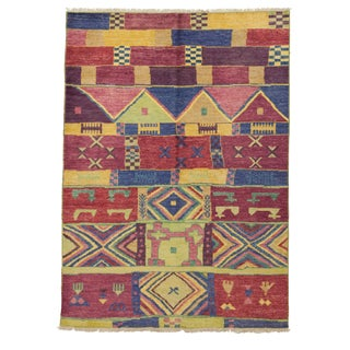 "Morrocan Inspired Hand Knotted Area Rug - 6'5"" X 8'10"""
