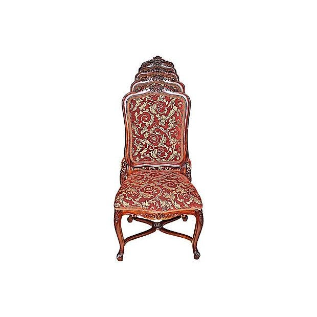 Louis XV-Style Mahogany Side Chairs - Set of 6 - Image 1 of 7