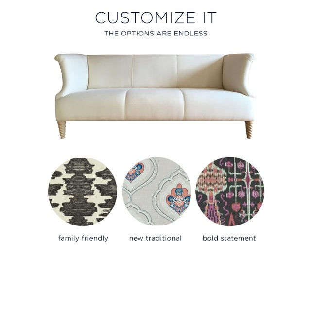 Twisted Leg Sofa + Custom Upholstery Service - Image 2 of 7