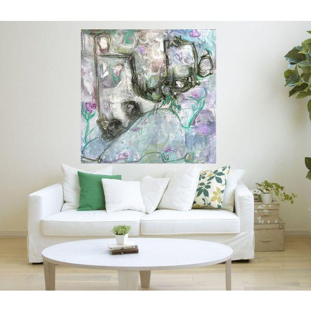 "Trixie Pitts's ""Monkey Business"" Large Abstract Painting - Image 4 of 6"