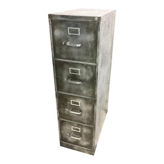 Industrial Brushed File Cabinet