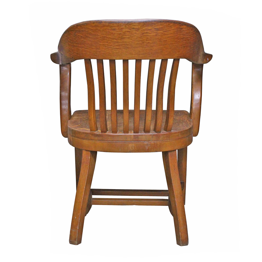 vintage oak office chair | chairish