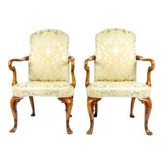 19th-C. English Armchairs, S/2