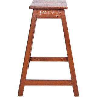 French C. 1880 Wood Stool