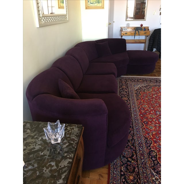 Weiman Sectional Sofa in Plum - Image 3 of 8