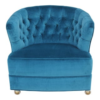 Tufted Velvet Bucket Chair