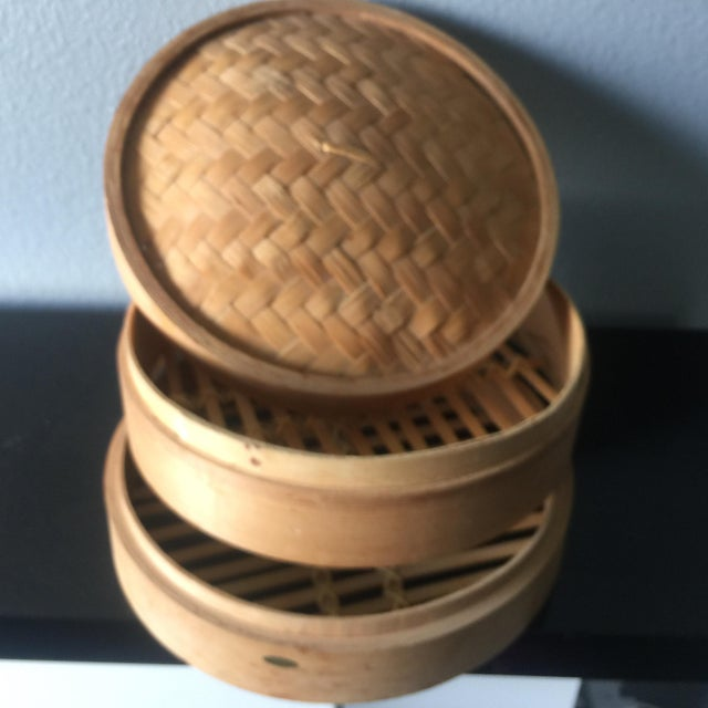 Image of Asian Bamboo Steam Basket